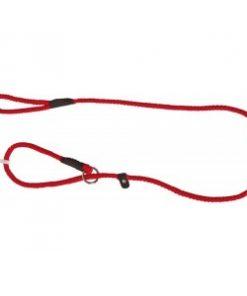 Nylon Sliplijn 150 cm Effen voor de hond Rood