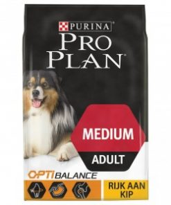 Pro Plan Optibalance Medium Adult hondenvoer 14 kg + Purina Dentalife Medium Voordeelpack (84 sticks)